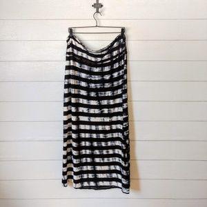 Christopher & Banks Striped shibori Maxi Skirt